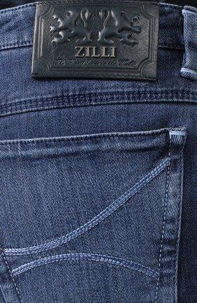Мужские джинсы прямого кроя ZILLI темно-синего цвета, арт. MCR-00209-JABI3/S001 | Фото 5