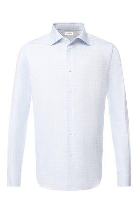 Мужская хлопковая рубашка с воротником кент BRIONI голубого цвета, арт. RCL016/P805X | Фото 1
