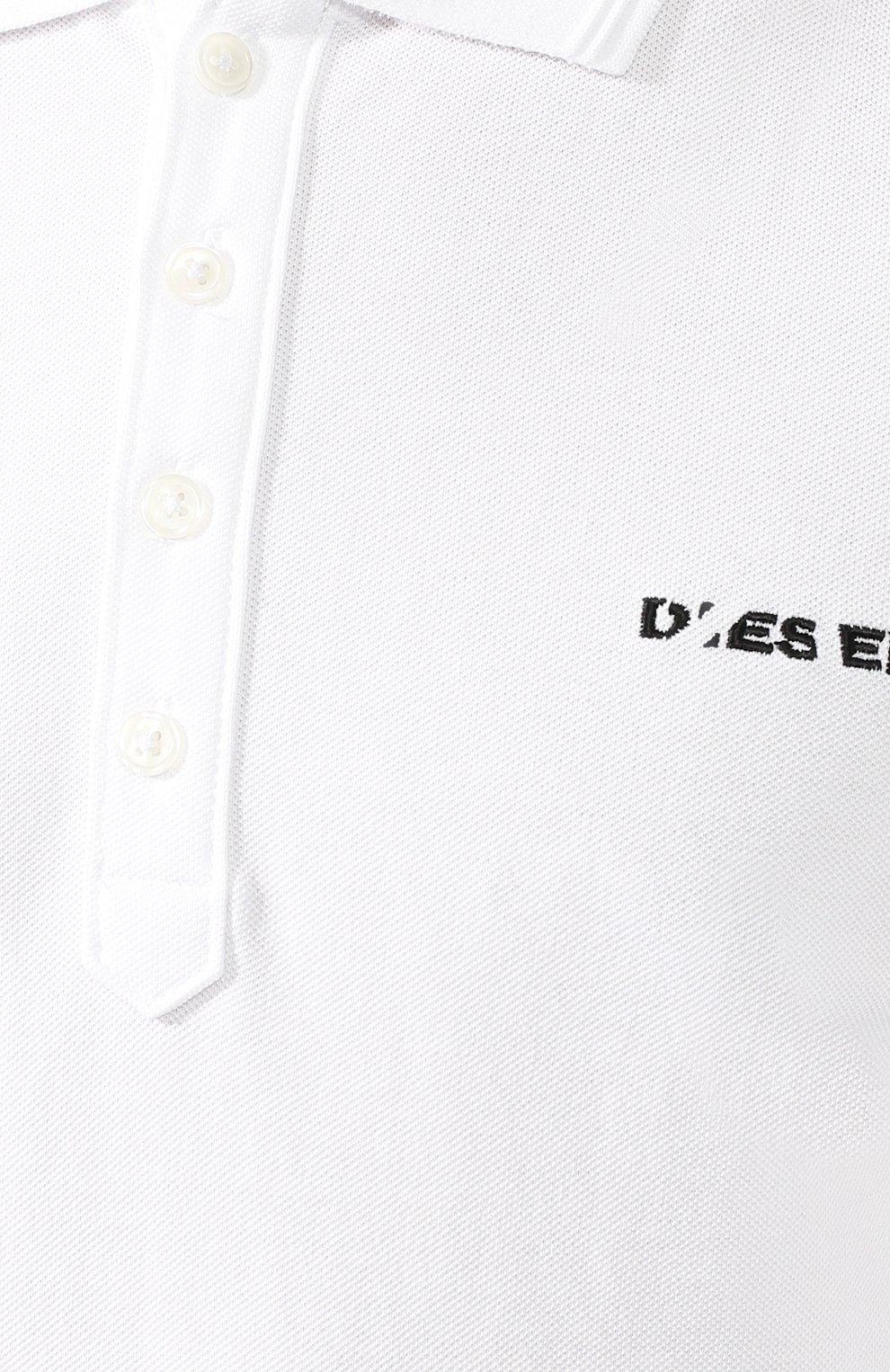 Хлопковое поло Diesel белое | Фото №5