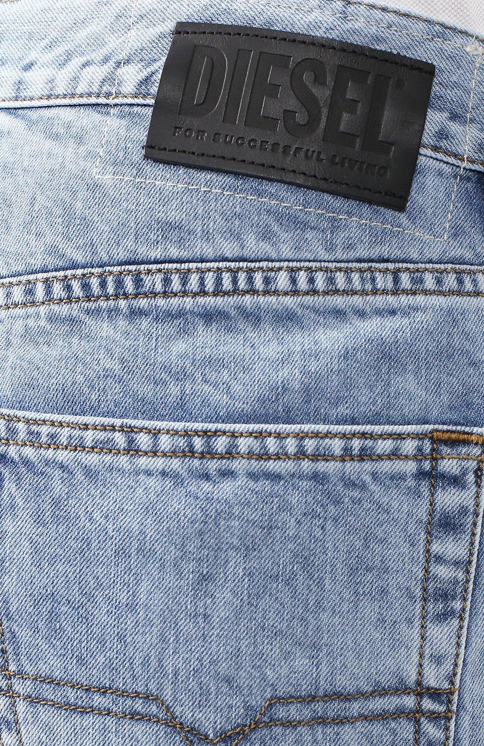 Джинсовые шорты Diesel голубые | Фото №5