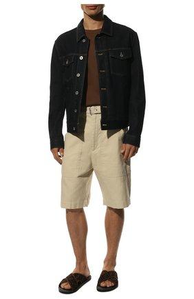 Мужские текстильные шлепанцы FENDI коричневого цвета, арт. 7X1222 A63T | Фото 2