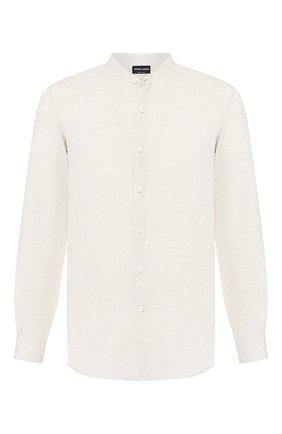 Мужская льняная рубашка GIORGIO ARMANI бежевого цвета, арт. 9SGCCZ13/TZ243 | Фото 1