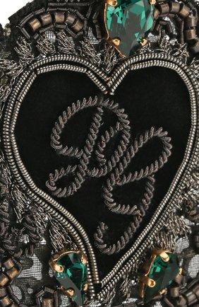 Мужская булавка для галстука DOLCE & GABBANA черного цвета, арт. WPL1R2/W1111   Фото 3