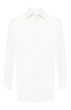 Мужская сорочка из смеси хлопка и шелка BRIONI белого цвета, арт. RCLU1G/P804R   Фото 1
