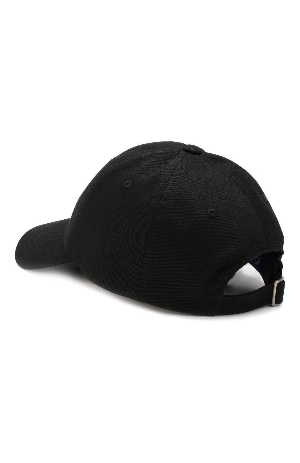 Хлопковая бейсболка Études черного цвета   Фото №2