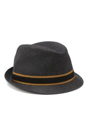 Мужская шляпа из смеси шерсти и хлопка DOLCE & GABBANA черного цвета, арт. GH594A/FC3C0 | Фото 1