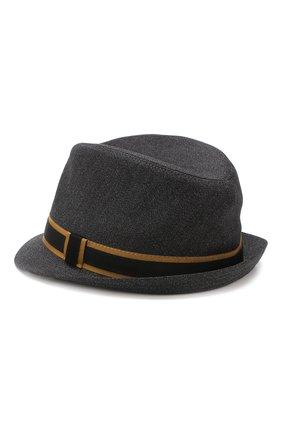 Мужская шляпа из смеси шерсти и хлопка DOLCE & GABBANA черного цвета, арт. GH594A/FC3C0 | Фото 2