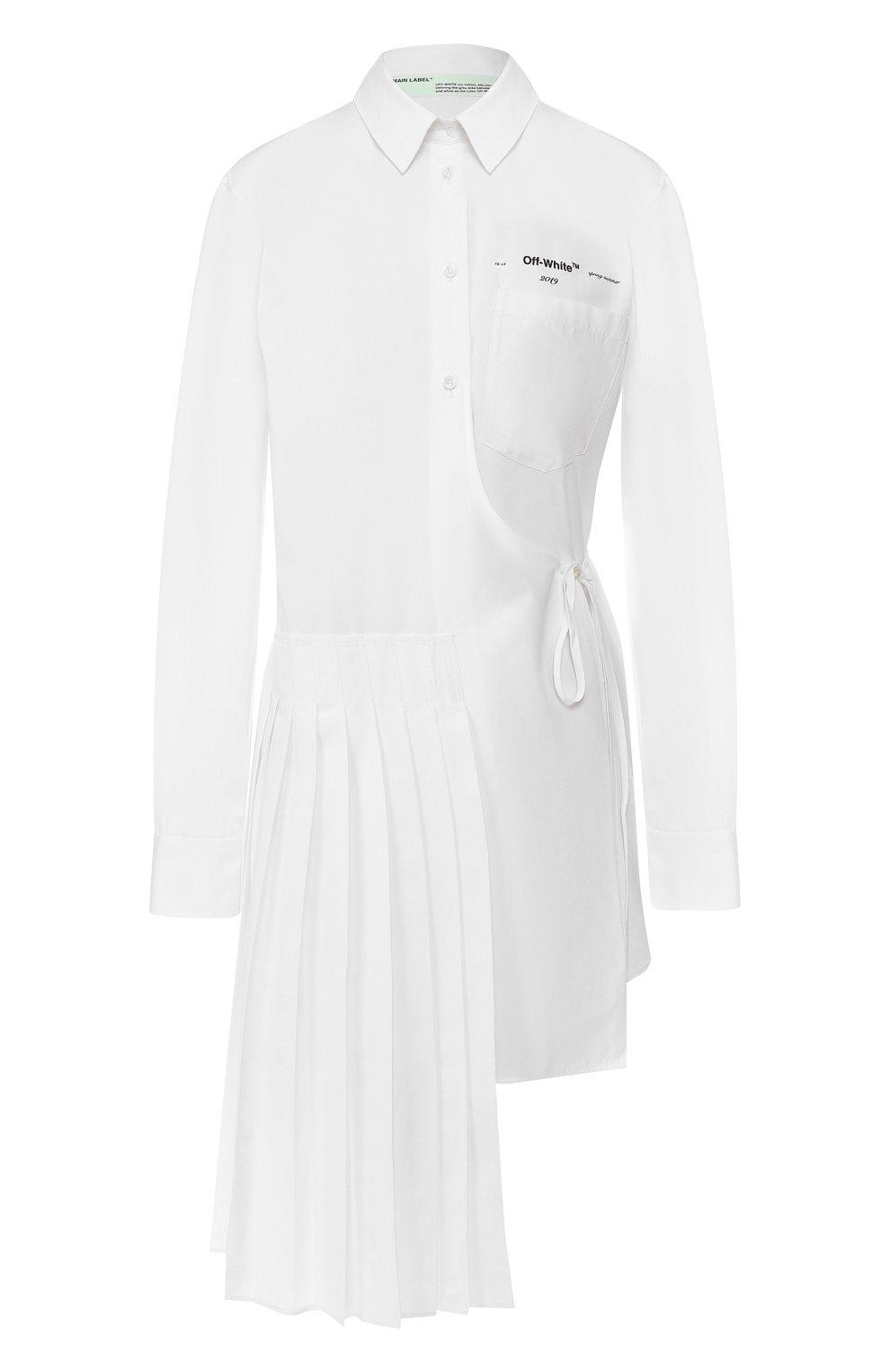 Хлопковая рубашка Off-White белая   Фото №1