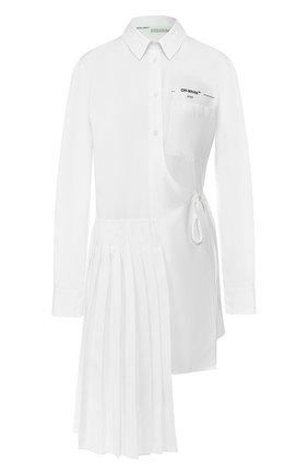 Хлопковая рубашка Off-White белая | Фото №1