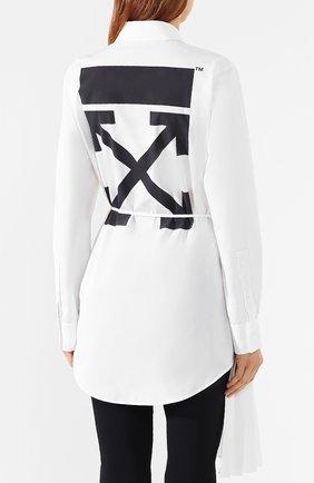 Хлопковая рубашка Off-White белая | Фото №4