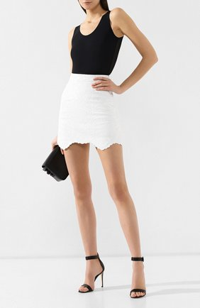 Кожаная юбка Off-White белая   Фото №2