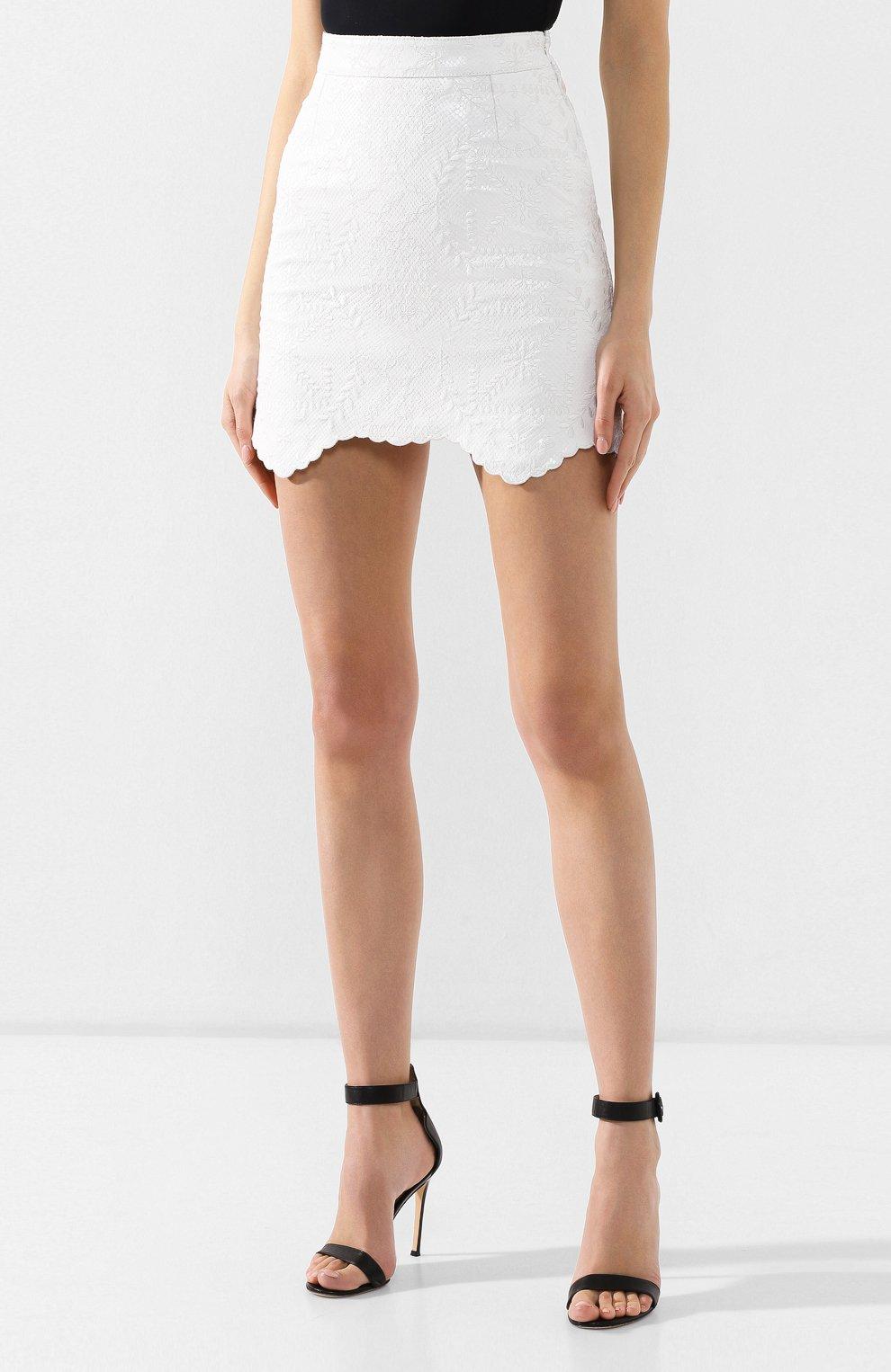 Кожаная юбка Off-White белая   Фото №3
