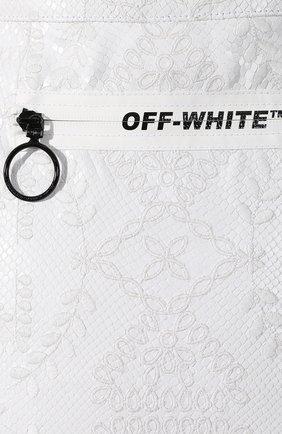 Кожаная юбка Off-White белая   Фото №5