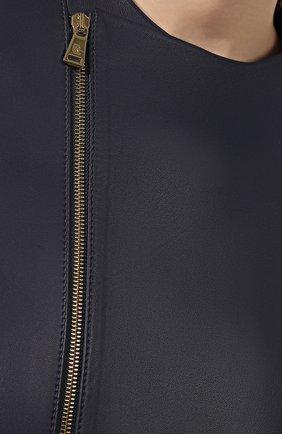 Кожаная куртка Ralph Lauren синий | Фото №5