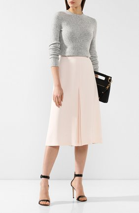 Женская юбка из смеси шелка и шерсти LORO PIANA розового цвета, арт. FAI5256   Фото 2