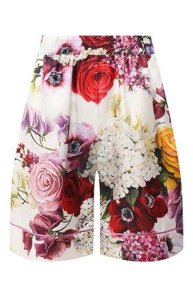 Женские шелковые шорты DOLCE & GABBANA разноцветного цвета, арт. FTAM7T/HS10D | Фото 1