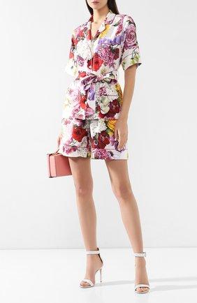 Женские шелковые шорты DOLCE & GABBANA разноцветного цвета, арт. FTAM7T/HS10D | Фото 2