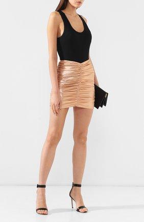 Мини-юбка с драпировкой | Фото №2