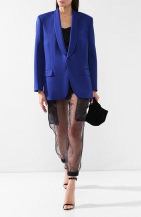 Жакет прямого кроя Maison Margiela синий | Фото №2