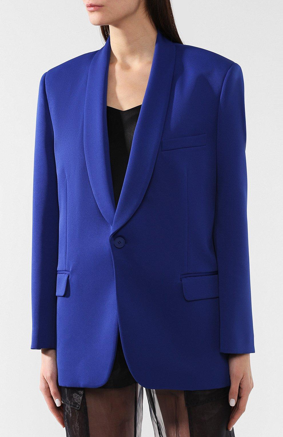 Жакет прямого кроя Maison Margiela синий | Фото №3