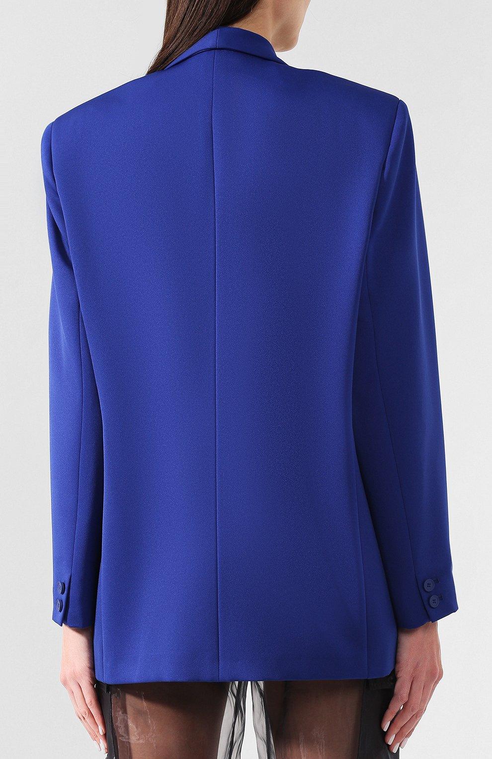 Жакет прямого кроя Maison Margiela синий | Фото №4