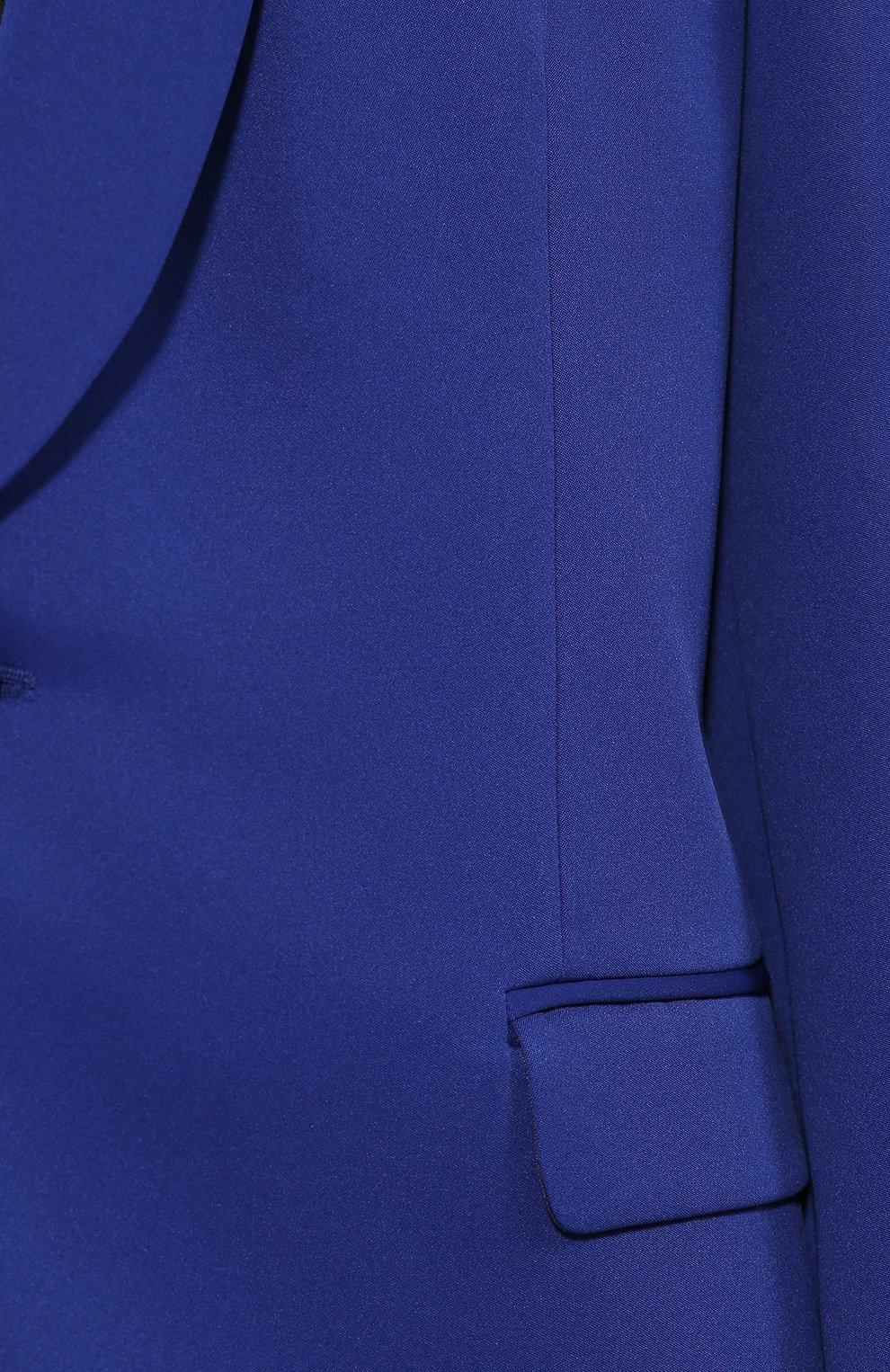 Жакет прямого кроя Maison Margiela синий | Фото №5