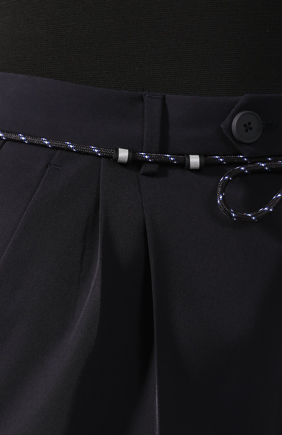 Брюки со стрелками Maison Margiela темно-синие | Фото №5