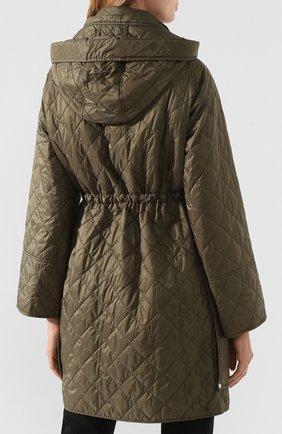 Стеганое пальто Burberry зеленого цвета   Фото №4