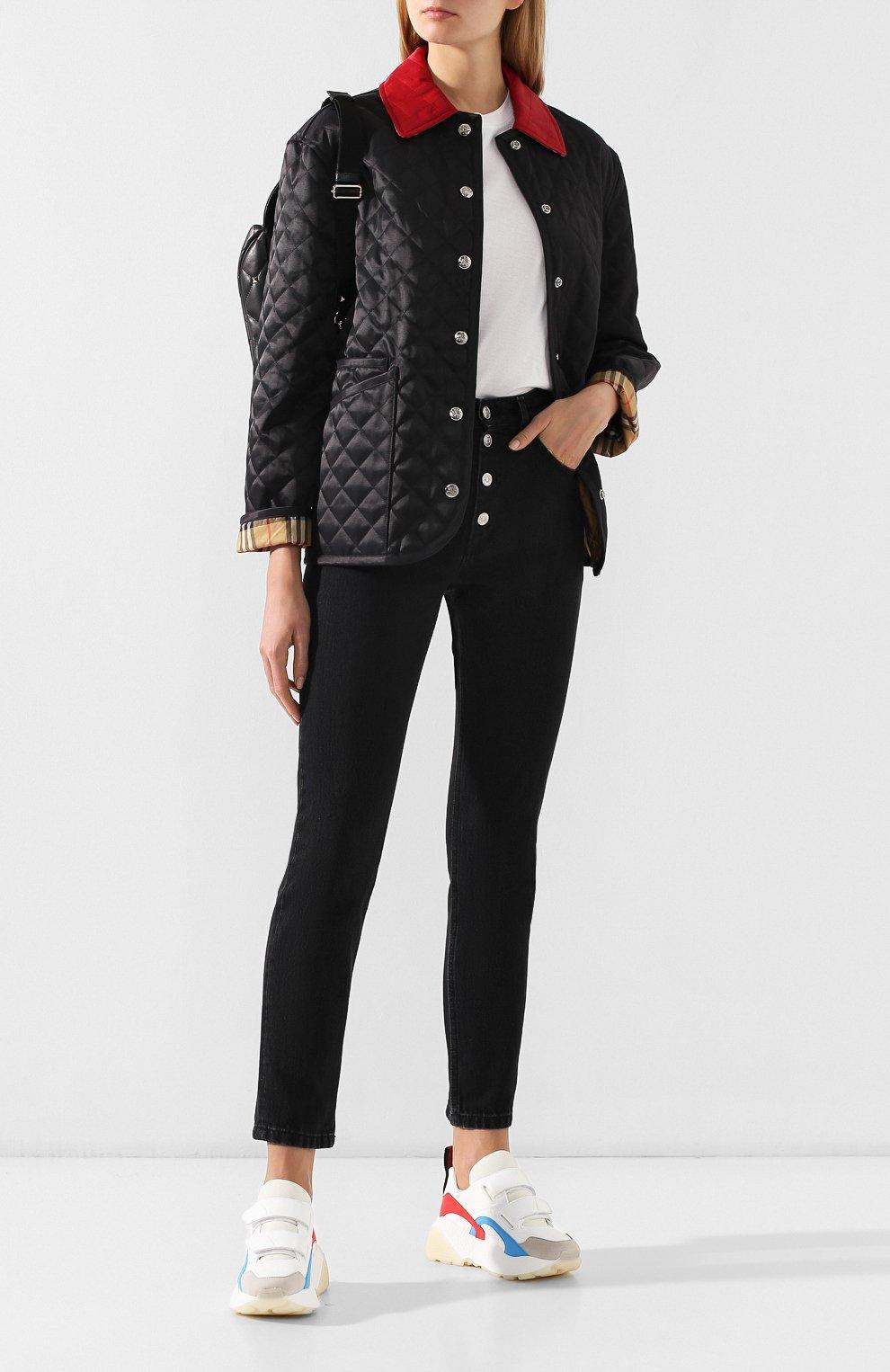 Стеганая куртка Burberry черная | Фото №2