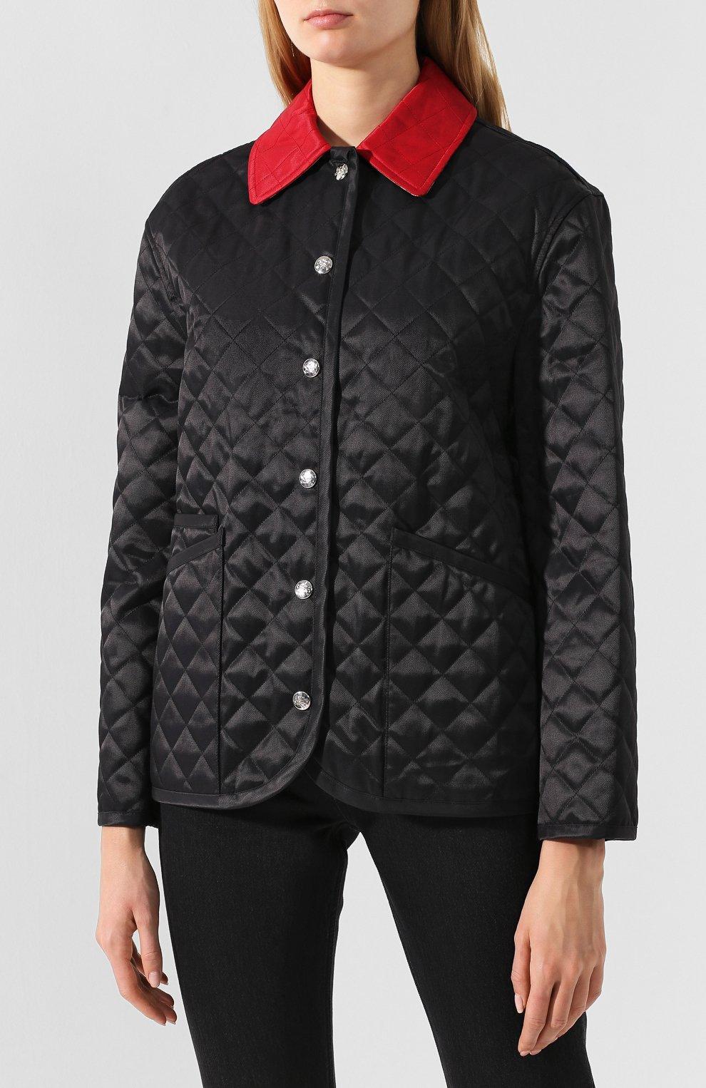 Стеганая куртка Burberry черная | Фото №3