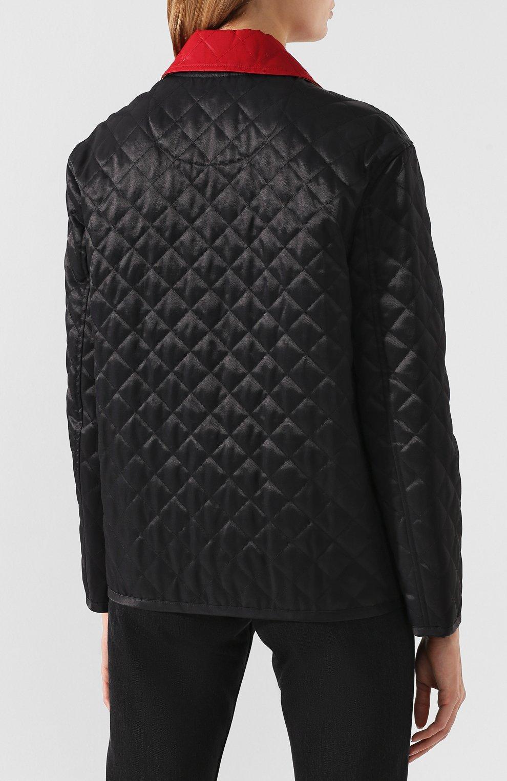 Стеганая куртка Burberry черная | Фото №4