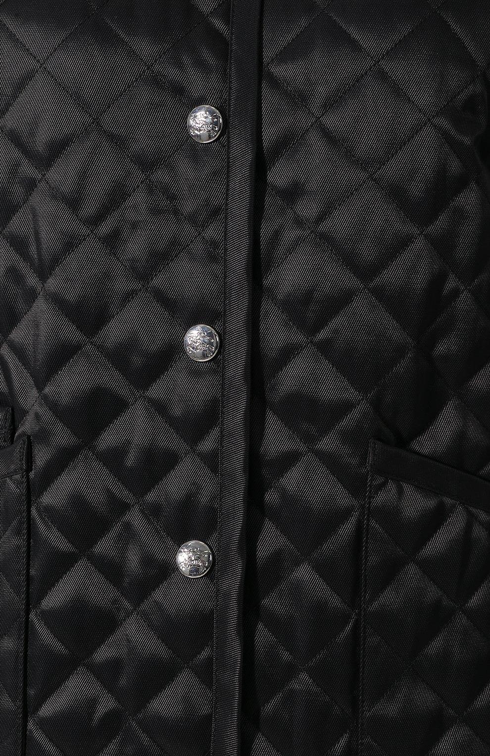 Стеганая куртка Burberry черная | Фото №5