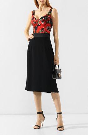 Боди с принтом Dolce & Gabbana красный | Фото №2