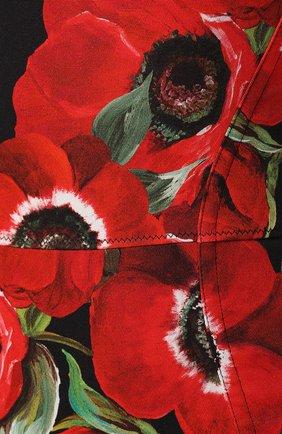 Боди с принтом Dolce & Gabbana красный | Фото №5