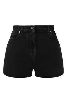 Джинсовые шорты Valentino черные | Фото №1