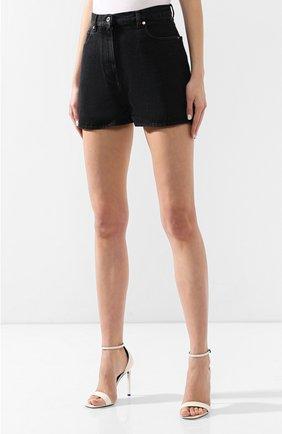 Джинсовые шорты Valentino черные | Фото №3