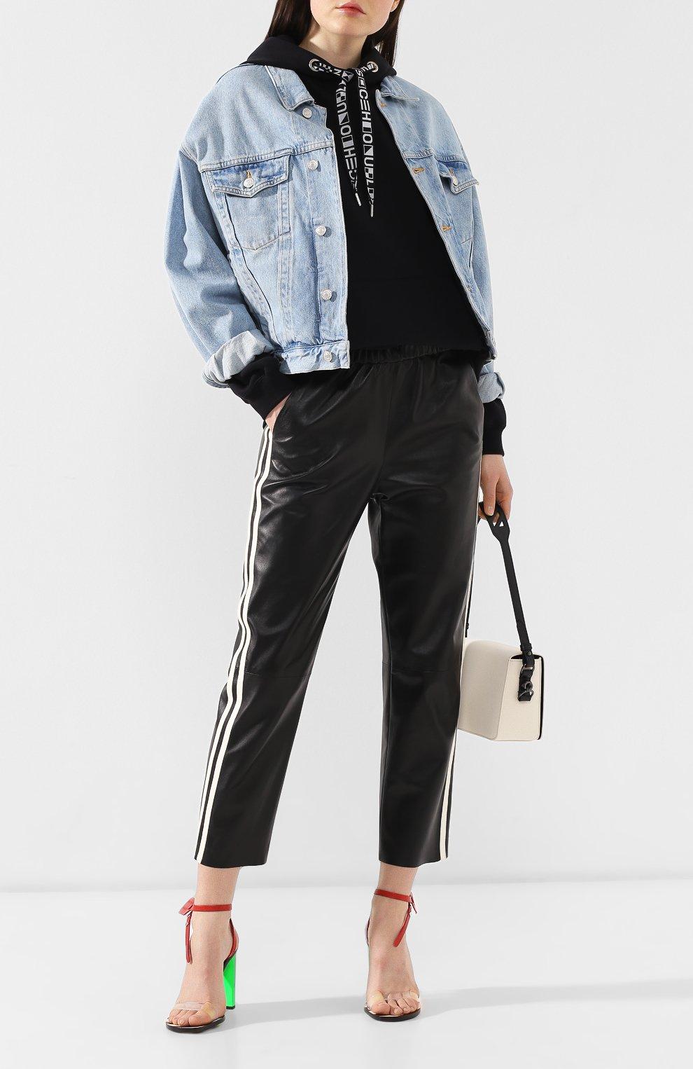 Женская джинсовая куртка AGOLDE голубого цвета, арт. A5010-778   Фото 2 (Кросс-КТ: Куртка, Деним; Рукава: Длинные; Материал внешний: Хлопок, Деним; Длина (верхняя одежда): Короткие; Стили: Кэжуэл; Статус проверки: Проверена категория)