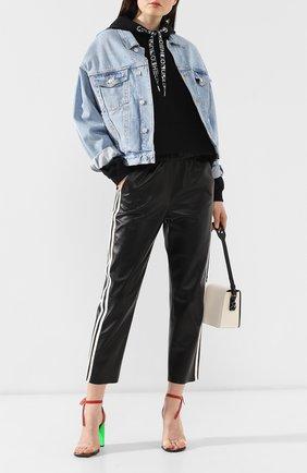 Женская джинсовая куртка AGOLDE голубого цвета, арт. A5010-778 | Фото 2