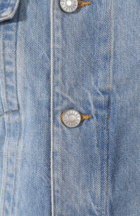 Женская джинсовая куртка AGOLDE голубого цвета, арт. A5010-778   Фото 5 (Кросс-КТ: Куртка, Деним; Рукава: Длинные; Материал внешний: Хлопок, Деним; Длина (верхняя одежда): Короткие; Стили: Кэжуэл; Статус проверки: Проверена категория)