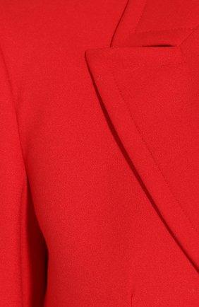 Шерстяной жакет Elie Saab красный   Фото №5