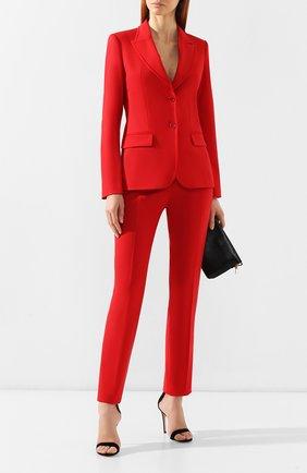 Шерстяные брюки Elie Saab красные | Фото №2