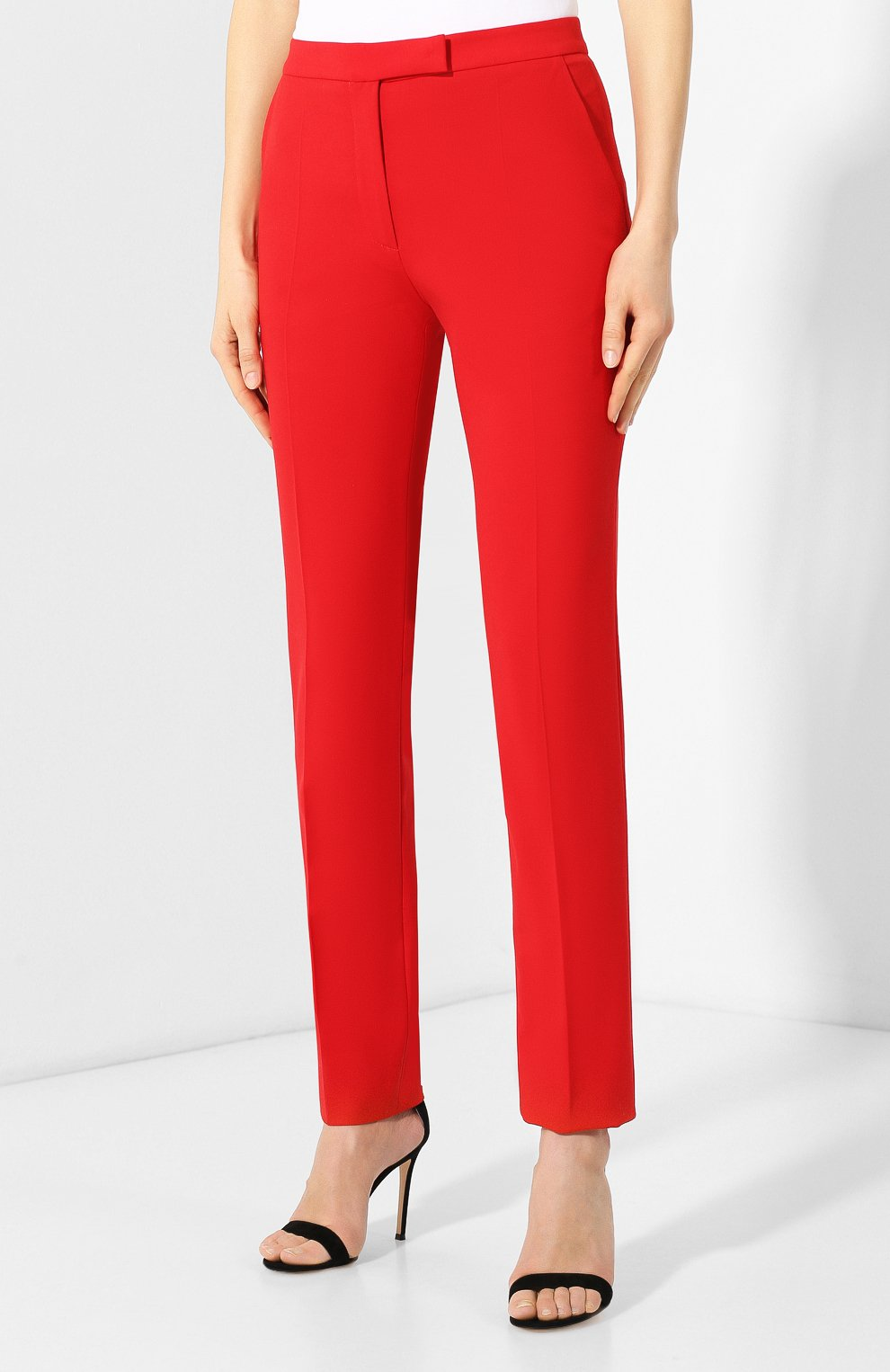 Шерстяные брюки Elie Saab красные | Фото №3