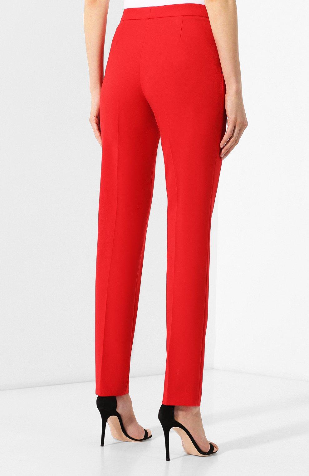 Шерстяные брюки Elie Saab красные | Фото №4