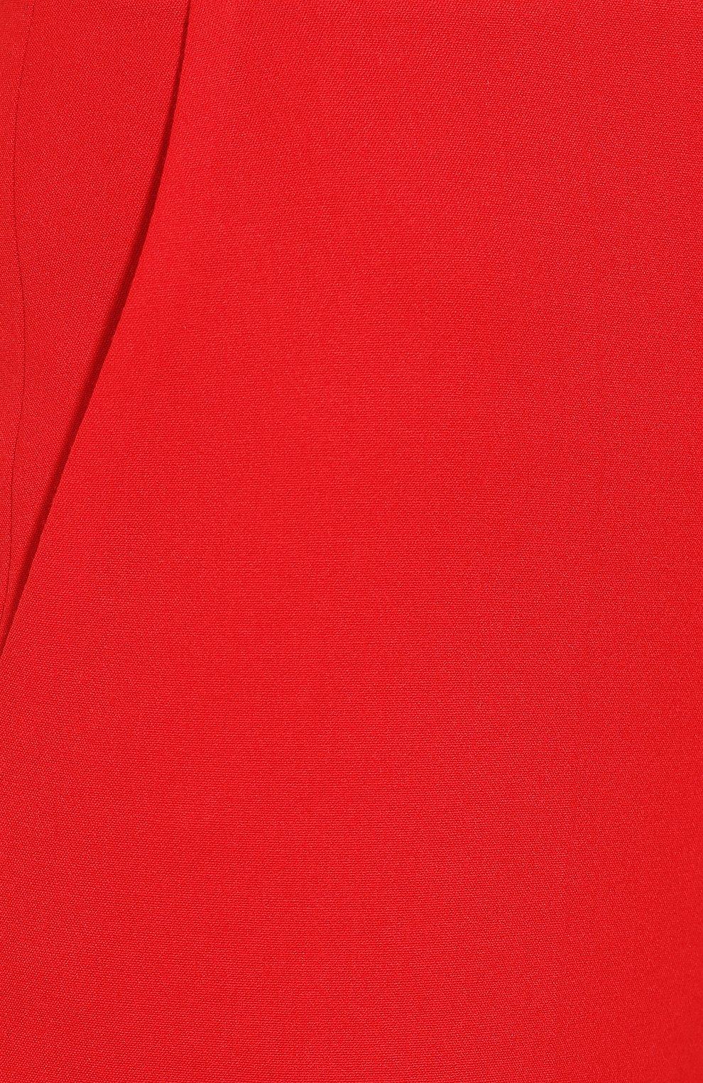Шерстяные брюки Elie Saab красные | Фото №5