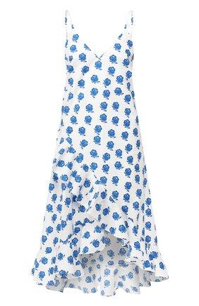 Хлопковое платье Kenzo голубое | Фото №1