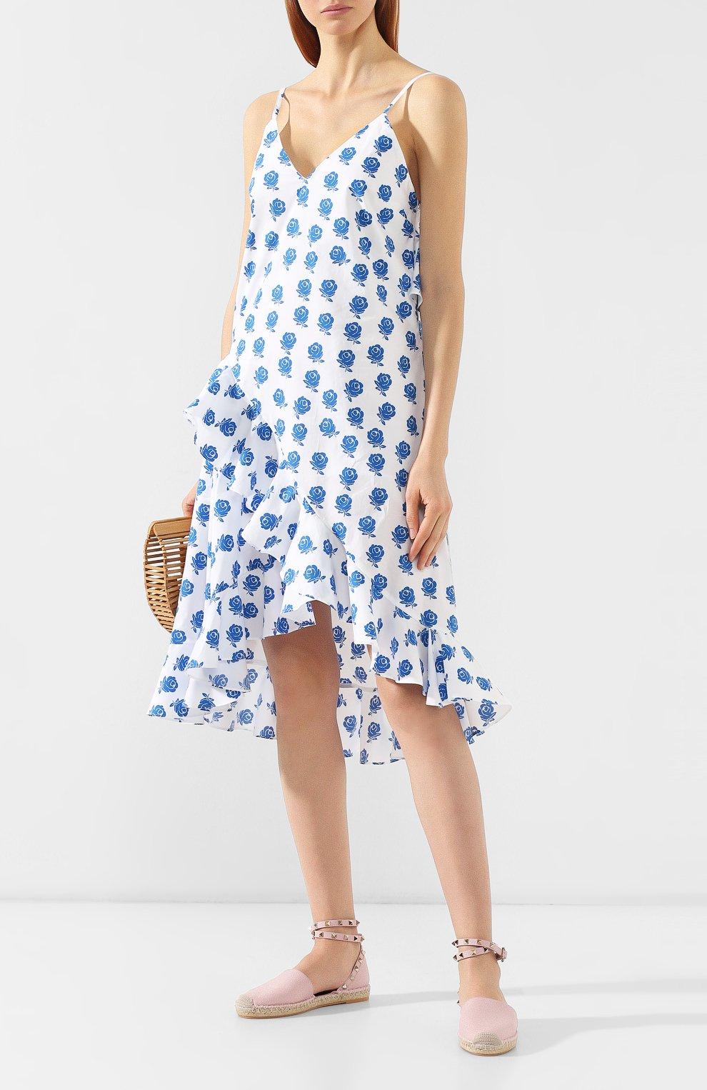 Хлопковое платье Kenzo голубое | Фото №2