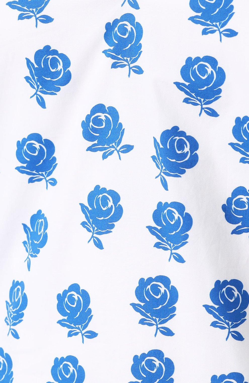 Хлопковое платье Kenzo голубое | Фото №5