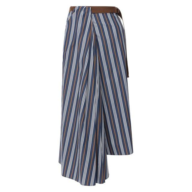 Хлопковая юбка Brunello Cucinelli — Хлопковая юбка