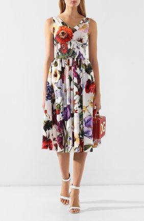 Хлопковое платье Dolce & Gabbana разноцветное | Фото №2