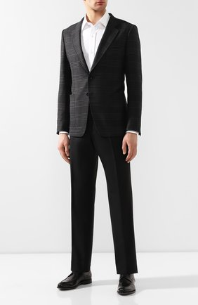 Мужской шерстяной пиджак TOM FORD темно-серого цвета, арт. 518R06/1DYJ40 | Фото 2
